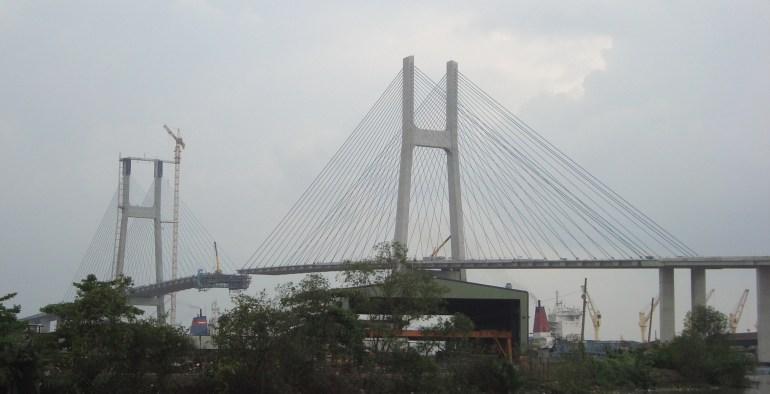Cầu Phú Mỹ trước ngày hợp long