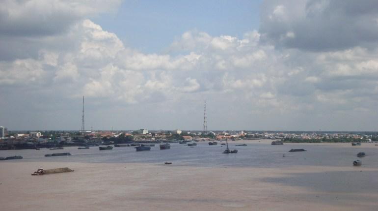 Sông Tiền và thành phố Mỹ tho